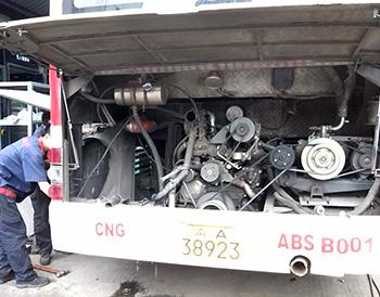 重庆恒通NG天然气公交车改装ATS冷却案例