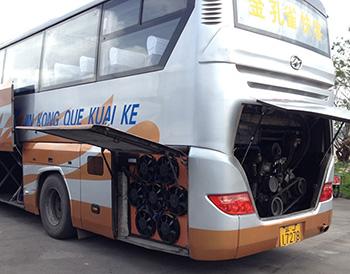苏州金龙旅游大巴车发动机冷却系统改装案例