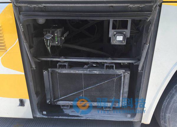 纯电动大巴车旅游客运车电子冷却风扇散热案例