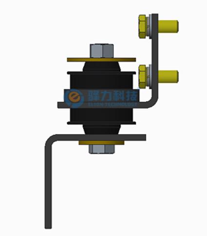 为我司标准悬置装配示意图-新能源客车ATS发动机冷却系统机械部分