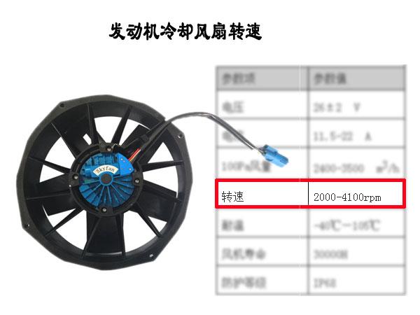 发动机冷却风扇转速多少合适