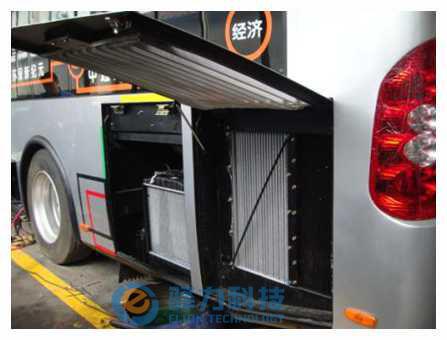 中通客车10.5米油电混合动力公交客车安装ATS案例